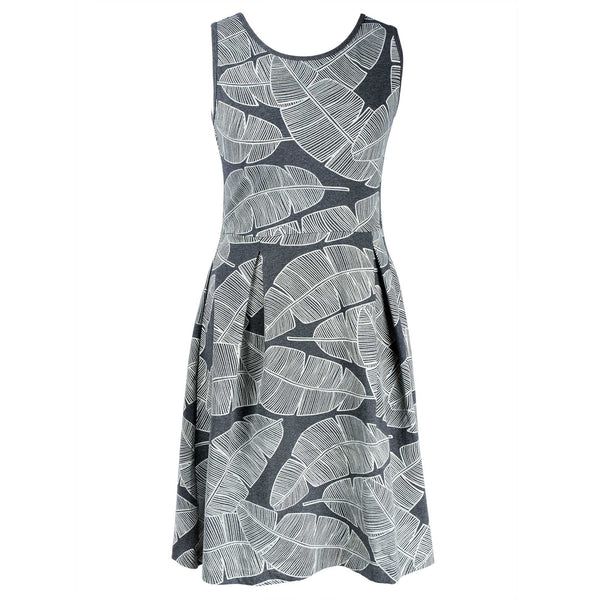 Grey Banana Leaf Dolly dress