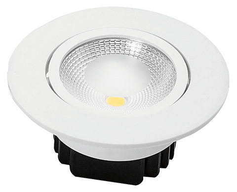 EMPOTRADO  LED DIRIGIBLE 5W CALIDO FL 450 MV 90-260 ALUMINIO BLANCO