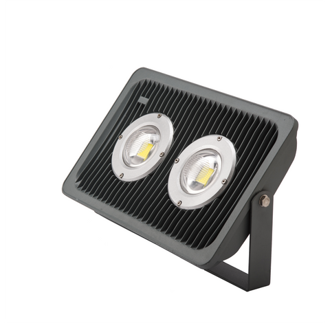 REFLECTOR DE LED IP65 DE 100W   FRIO CON LENTE DE PC DOBLE CURVA ALTO FACTOR .9