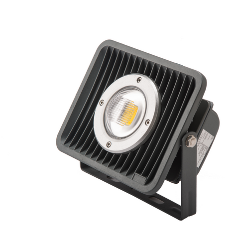 REFLECTOR DE LED IP65  30W  FRIO CON LENTE  PC  DOBLE CURVA ALTO FACTOR  .9