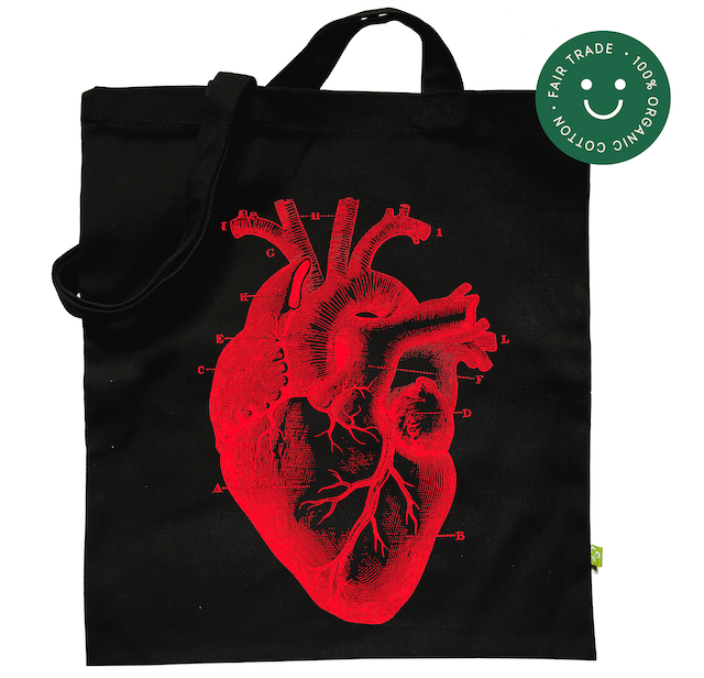 Heart - Black Tote Bag