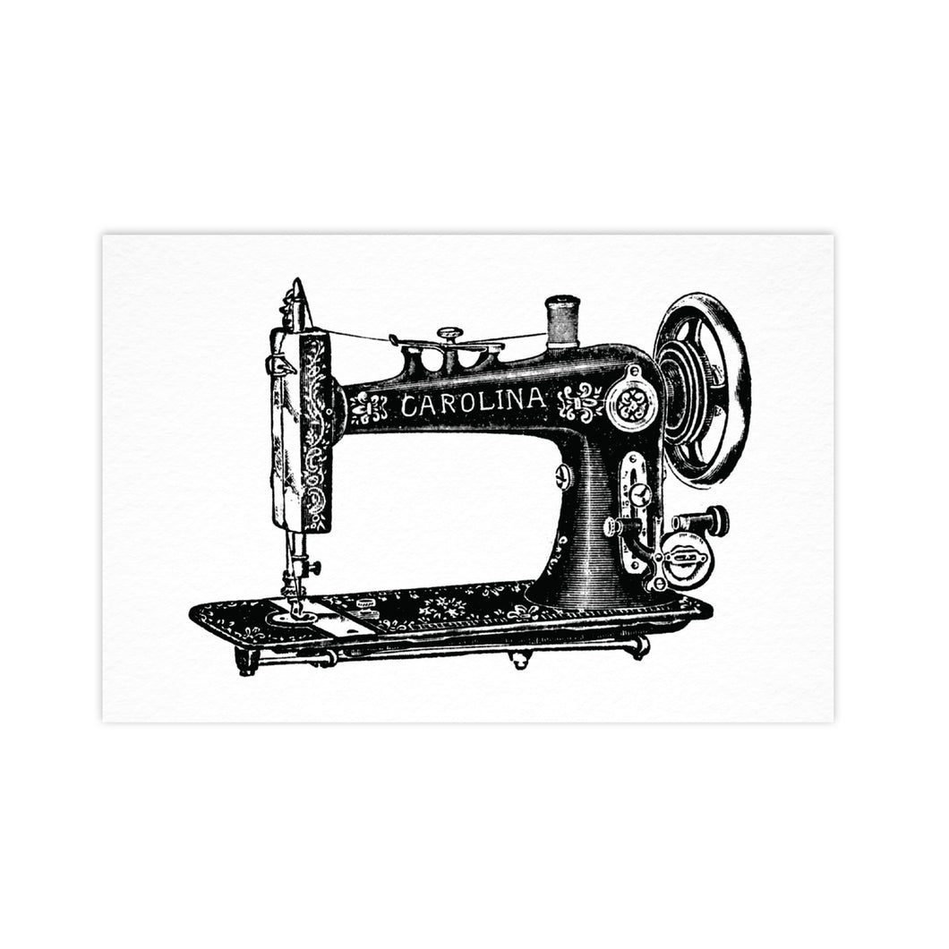Sewing Machine - Ahoy Vintage Postcard