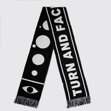 "Load image into Gallery viewer, Solar System - ""David Bowie inspired"" Knitted Football Scarf"