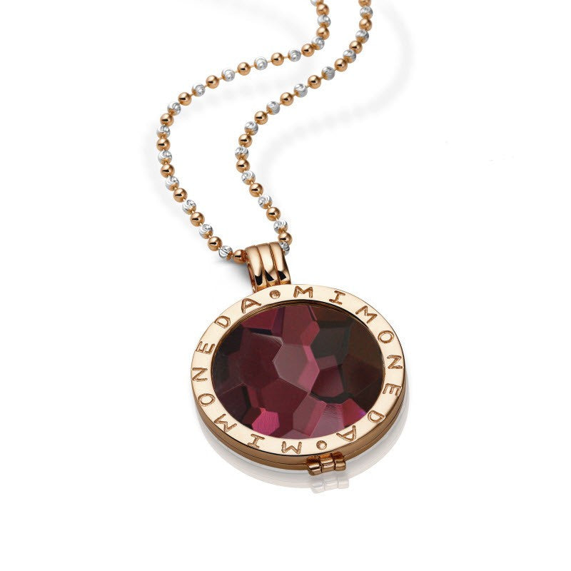 Mi moneda azar bordeaux rose gold pendant wilkinson jewellers mi moneda azar bordeaux rose gold pendant aloadofball Gallery
