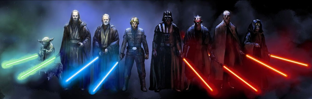 Different Colored Lightsabers