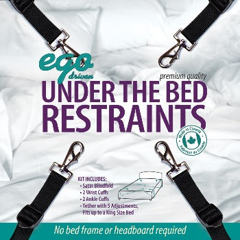 Ego Driven Premium Under The Bed Restraints Black