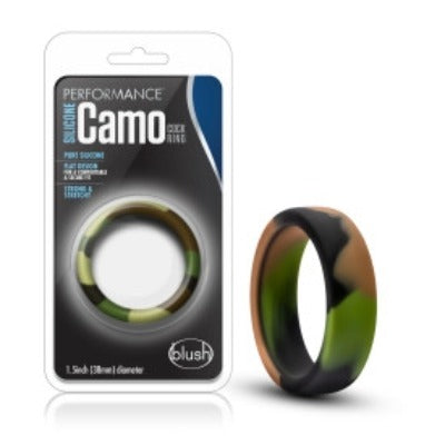 Performance Silicone Camo Cock Ring Green Camouflage