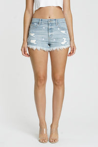 Lulu star print cutoff shorts
