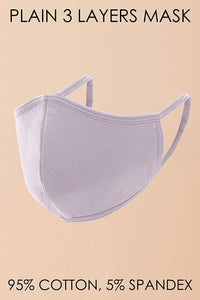 Reusable & washable mask in multiple colors