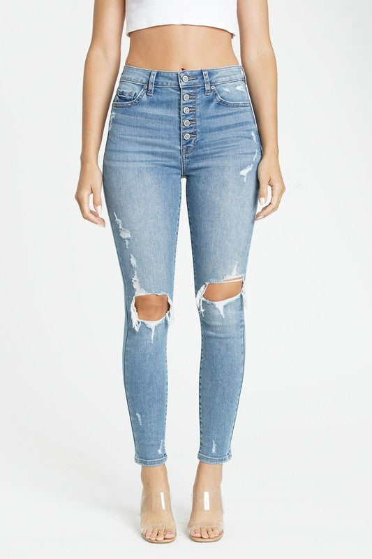 Bella super high rise skinny jeans