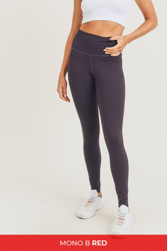 Grape high waist leggings