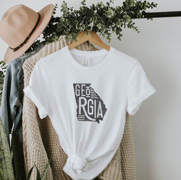 White GEORGIA graphic tee