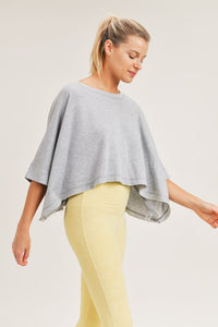 Cropped loose fit boxy top
