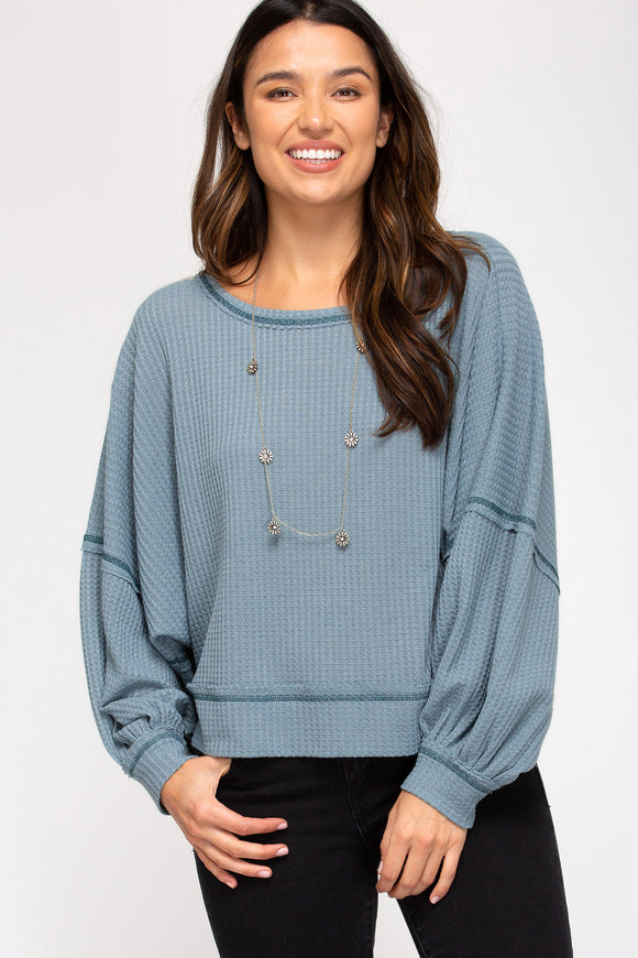 Thermal reverse stitch LS top