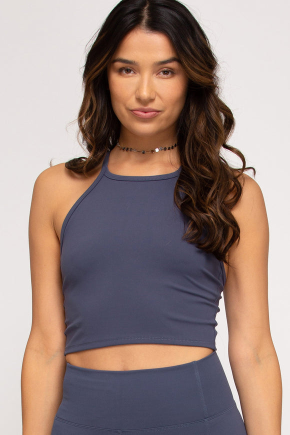 Sleeveless sport tank top