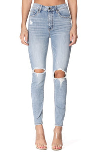 Bella super high rise skinny ankle jean