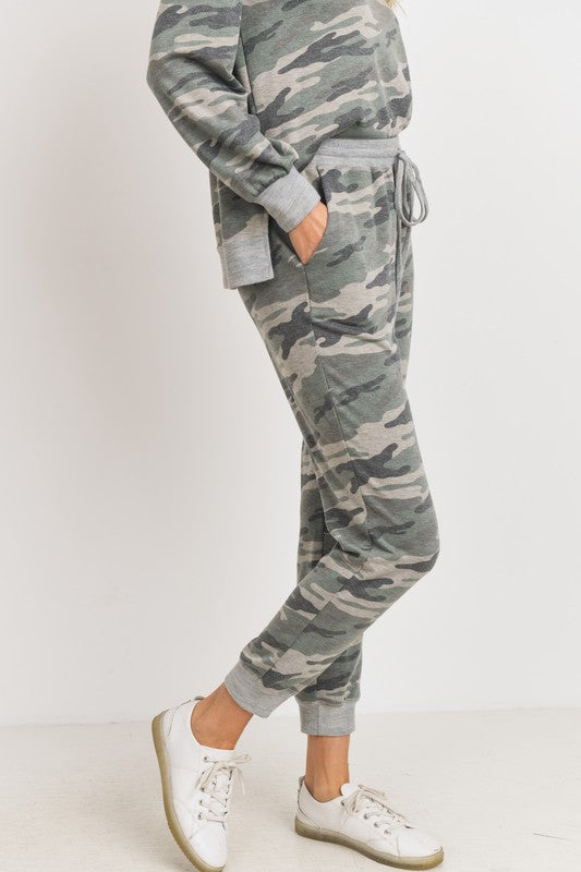 Camo french terry joggers