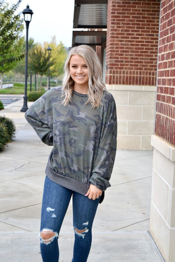 Olive LS thermal camo top