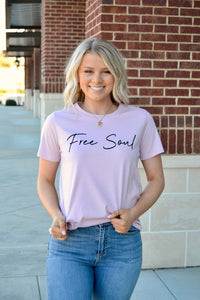 Lavender Free Soul graphic tee