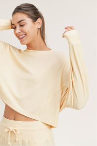 LS ribbed cropped pullover