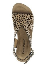 Sweep cheetah print strappy wedge