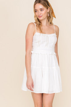 Off white ruffle tiered dress