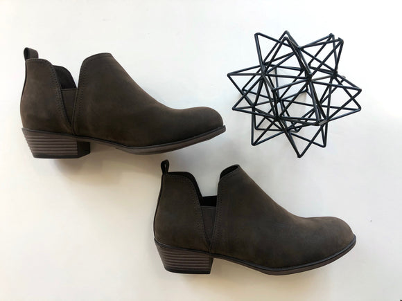 Nubuck ankle booties