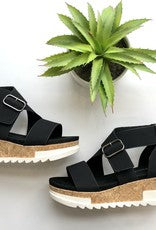 DRAKE 1  Strappy wedge sandal