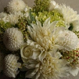 White Dahlia Arrangement