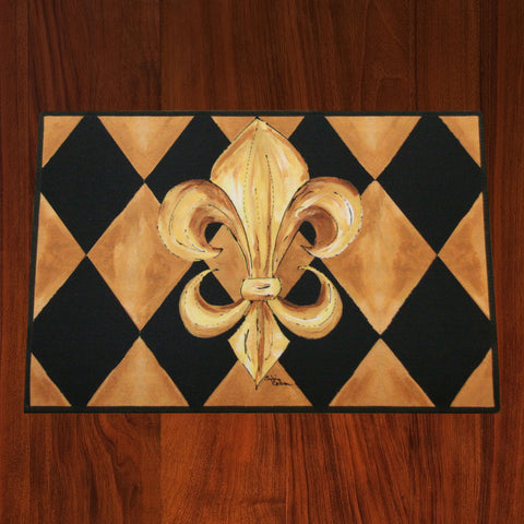 Black/Gold Floor Mat