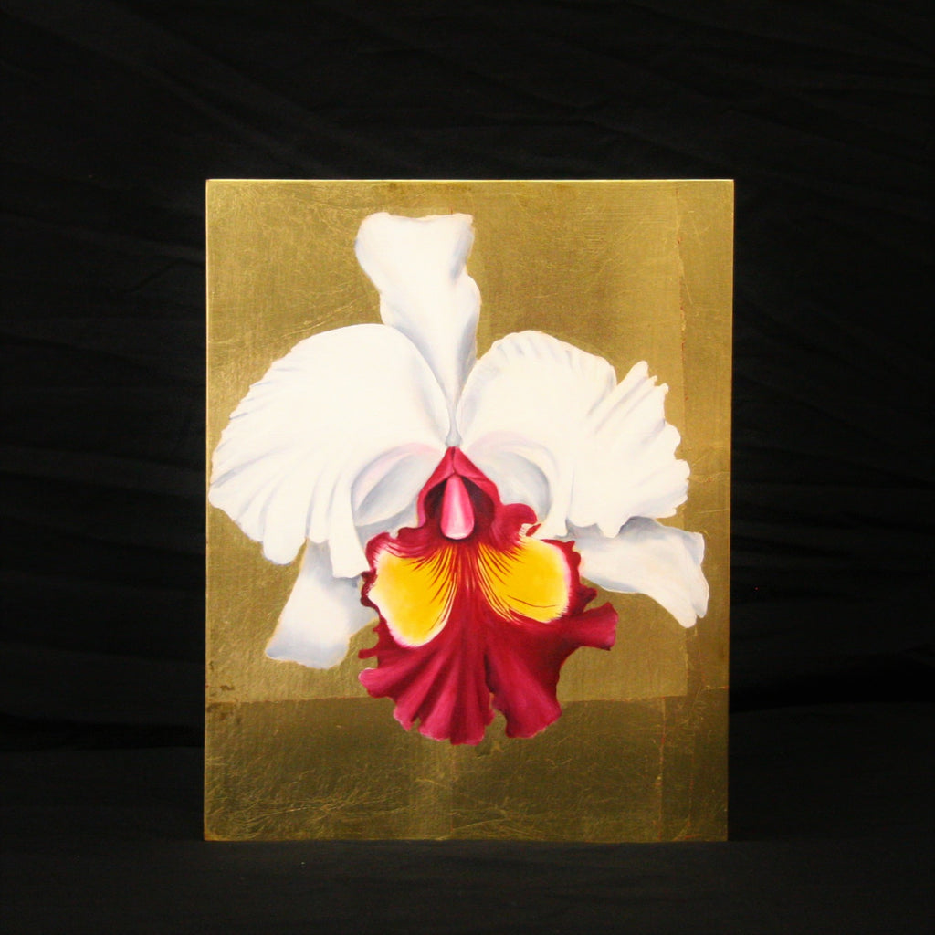 Orchid on Gold Leaf