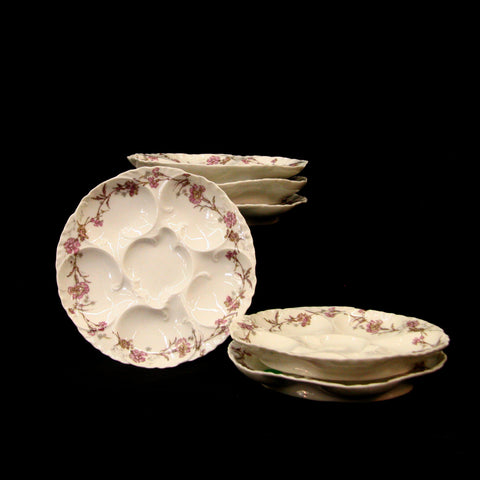 Set of 12 Limoges Oyster Plates