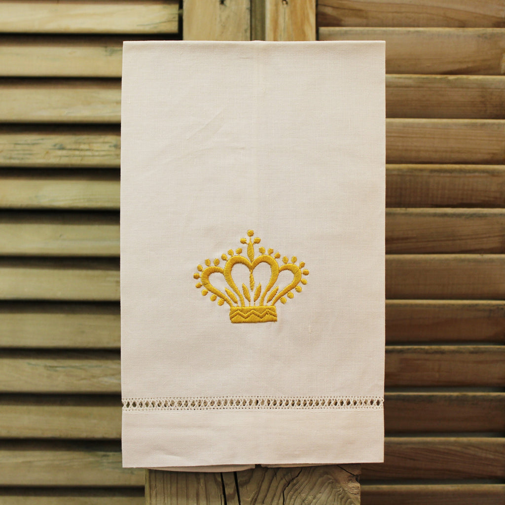 Gold Crown Linen Towel