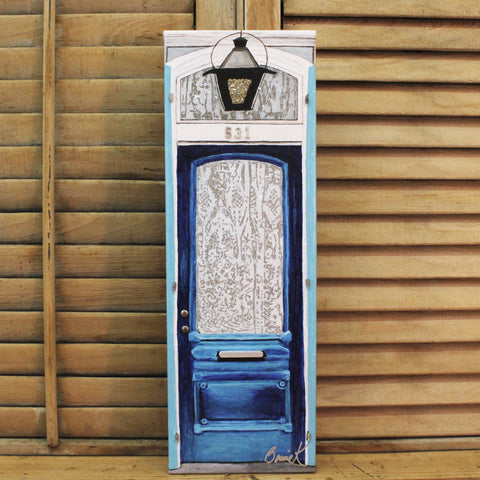 Elegant Blue Door by Bonnie Klein