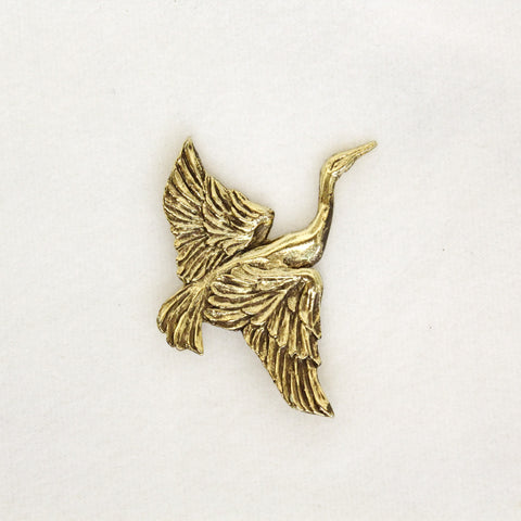 Feathered Egret Pin