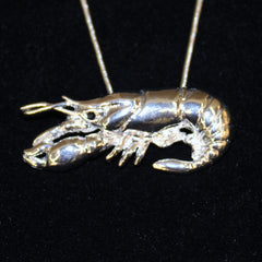 Pewter Crawfish on Chain