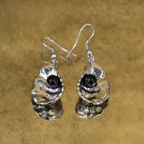 Black Oyster Earrings