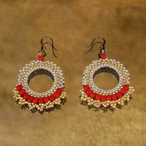 Circle Beaded Earrings
