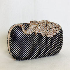 Peacock Crystal Clutch