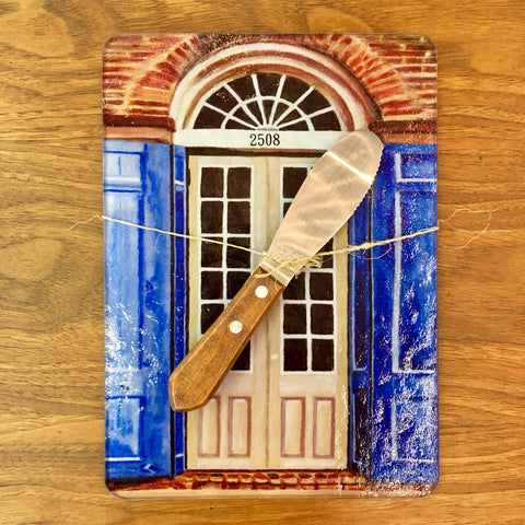 Tan Door Glass Cutting Board