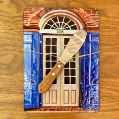 Green Door Glass Cutting Board