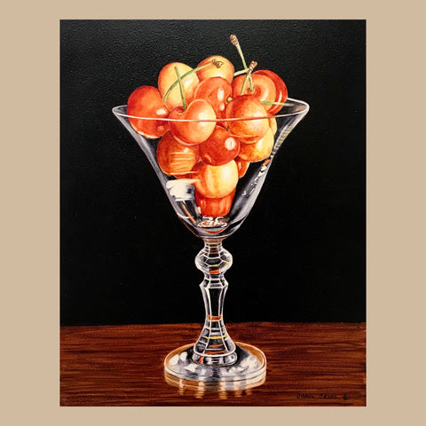 Cherries in Stem Glass