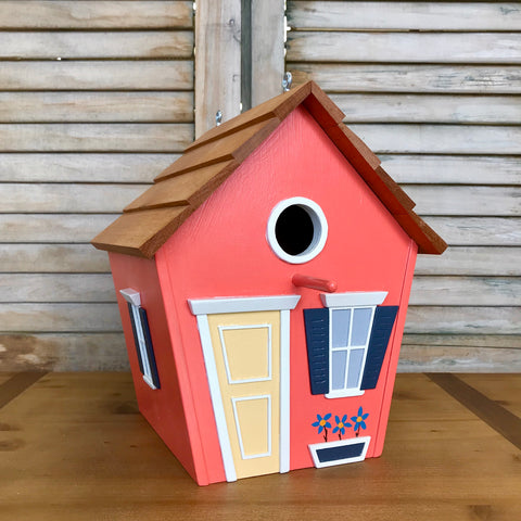 Classic Orange Birdhouse