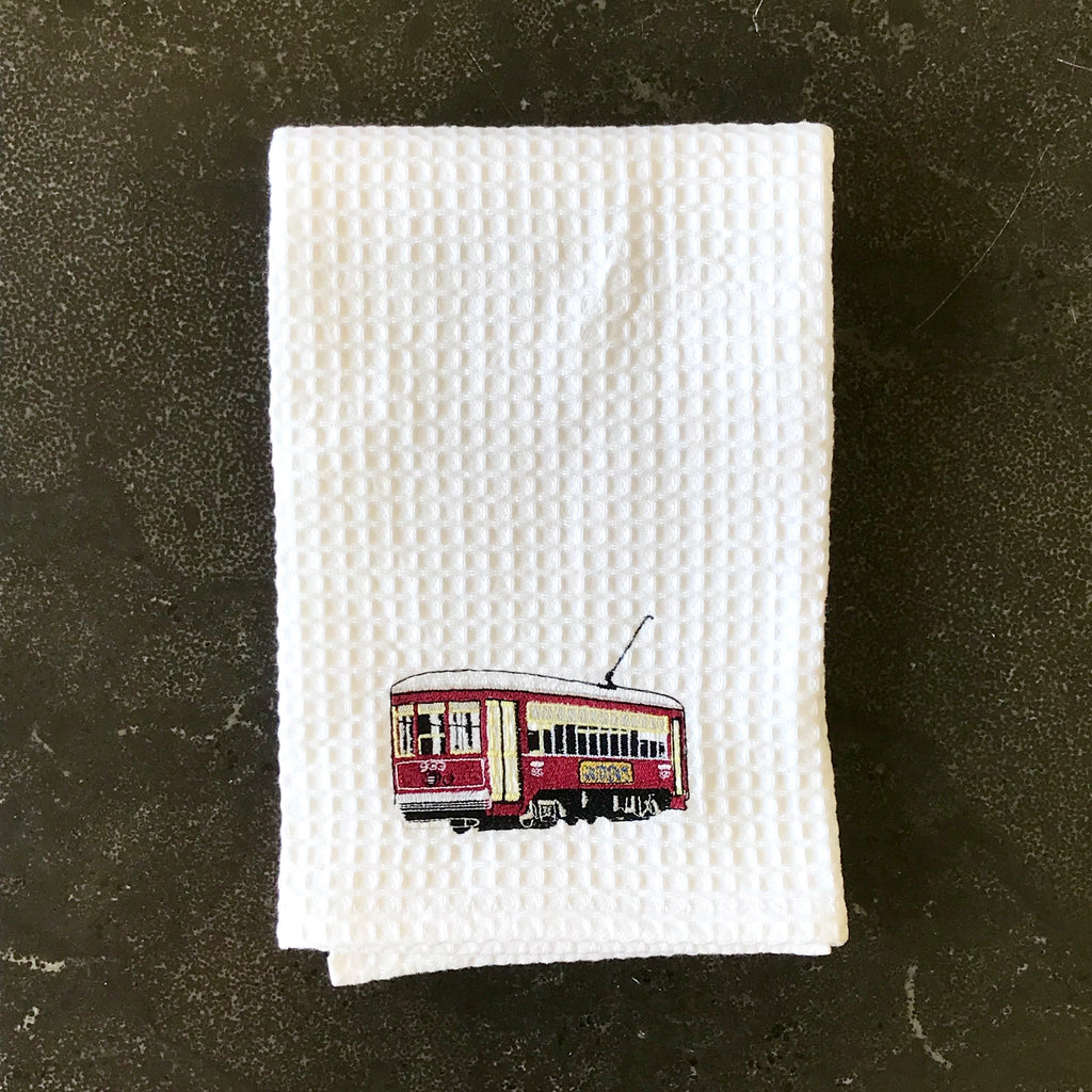 Red Streetcar Towel