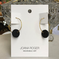 Black Full Moon Earrings