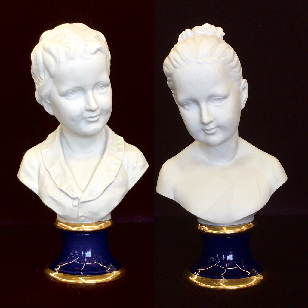 Pair of Bisque Busts
