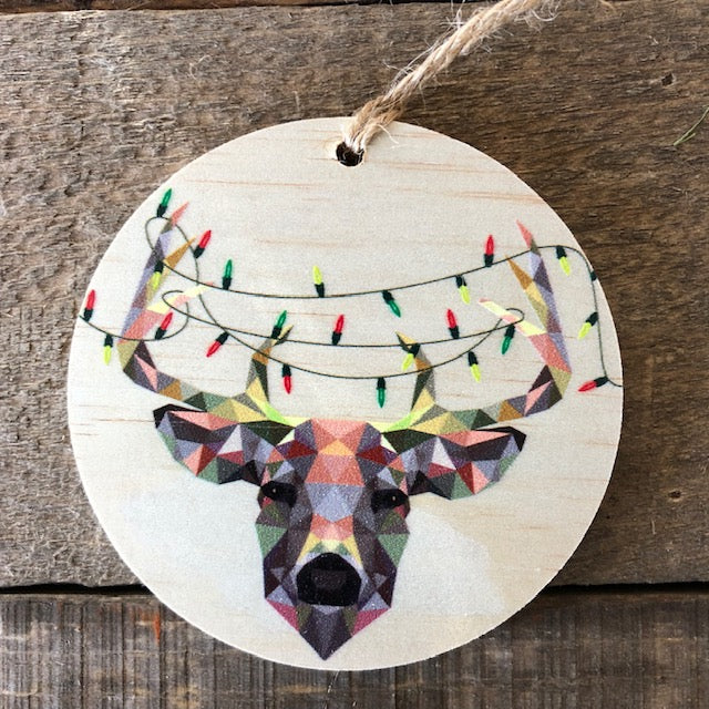 Geometric Deer with Lights