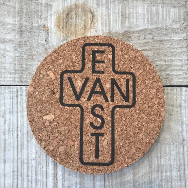 East Van Cross Black Outline Coaster Set