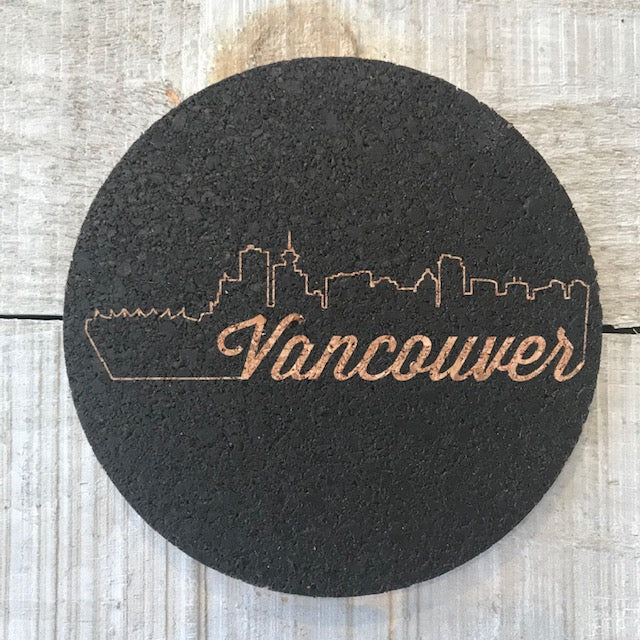 City Silhouette: Vancouver Cork Coaster Set
