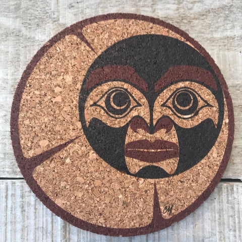 Haida Crescent Moon Cork Coaster Set